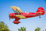 Ron Alexander's WACO lands at Peachstate Aerodrome during Vintage Days on June 2nd, 2012.
