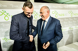 Milivoje Novakovic and Radenko Mijatovic during Traditional New Year party of of the Slovenian Football Association - NZS, on December 18, 2017 in Kongresni center, Brdo pri Kranju, Slovenia. Photo by Vid Ponikvar / Sportida