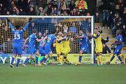 AFC Wimbledon defender Sean Kelly (22) scoring from corner 2-1 during the EFL Sky Bet League 1 match between AFC Wimbledon and Oxford United at the Cherry Red Records Stadium, Kingston, England on 14 January 2017. Photo by Matthew Redman.