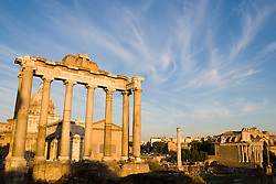 The Roman Forum, Forum Romanum, Forum Magnum or Forum was the central area around which ancient Rome developed, where commerce and the administration of justice took place. Rome, Italy November 30, 2007.