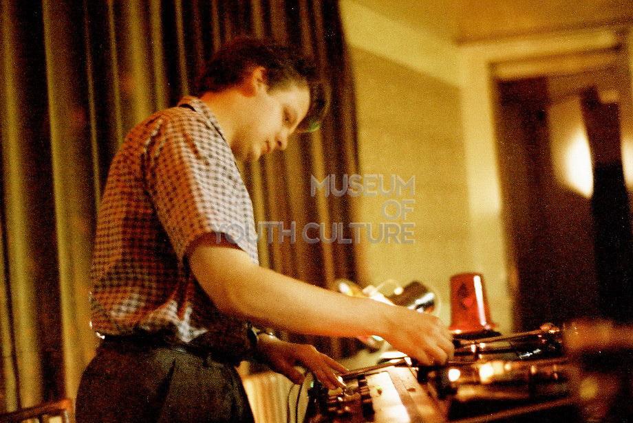 Peter McGowan DJing, London, UK, 1983