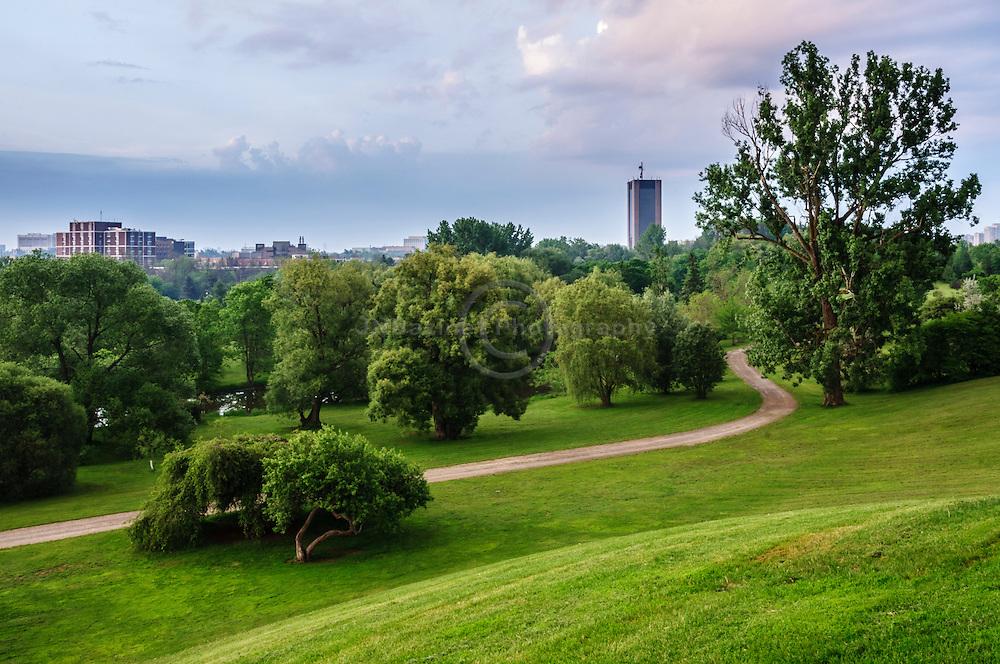 Dawm over Dominion Arboretum - central park, Ottawa Canada