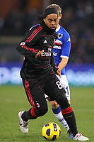 FOOTBALL - ITALIAN CHAMPIONSHIP 2010/2011 - SAMPDORIA GENES v MILAN AC - 27/11/2010 - PHOTO : MAURICIO DI CIUCCIO / PENTASPORTS / DPPI - RONALDINHO