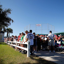 February 19, 2011; Fort Myers, FL, USA; Boston Red Sox fans wait for the team at the start of spring training practice at the Player Development Complex.  Mandatory Credit: Derick E. Hingle
