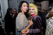 ANASTASIA WEBSTER; PAM HOGG;, Launch of Stephanie Theobald's book' A Partial Indulgence'  drinks provided by Ruinart champage nd Snow Queen vodka. The Artesian at the Langham, 1c Portland Place, Regent Street, London W1