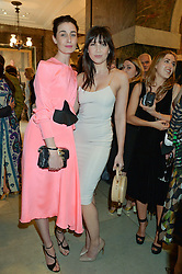Left to right, ERIN O'CONNOR and DAISY LOWE at the LDNY Fashion Show and WIE Award Gala sponsored by Maserati held at The Goldsmith's Hall, Foster Lane, City of London on 27th April 2015.
