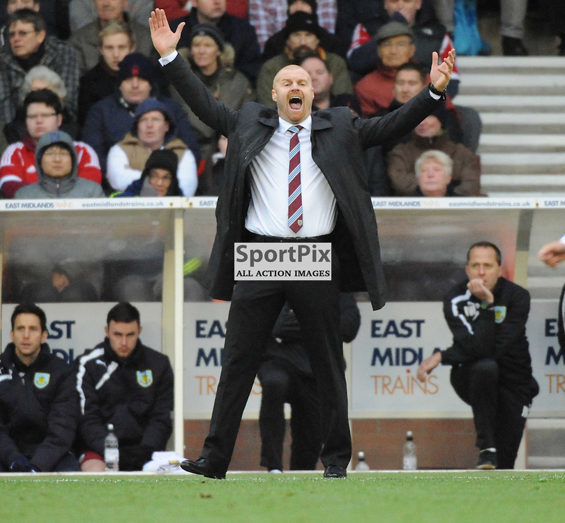 Sean Dyche Manager, Burnley FC, Sky Bet Championship,  City Ground Nottingham, Nottingham Forest v Burnley Game Saturday 23/11/2013