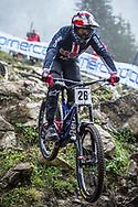 Dakotah Norton (USA) during the downhill qualifying runs at the 2018 UCI MTB World Championships - Lenzerheide, Switzerland