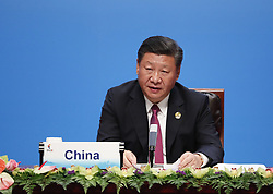 September 4, 2017 - Xiamen, Fujian, China - Chinese President Xi Jinping attends the BRICS Leaders Dialogue with members of the BRICS Business Council and gives a speech in Xiamen City, southeast China's Fujian Province, Sept. 4, 2017. Brazilian President Michel Temer, Russian President Vladimir Putin, Indian Prime Minister Narendra Modi and South African President Jacob Zuma attended the meeting. (Credit Image: © TPG via ZUMA Press)