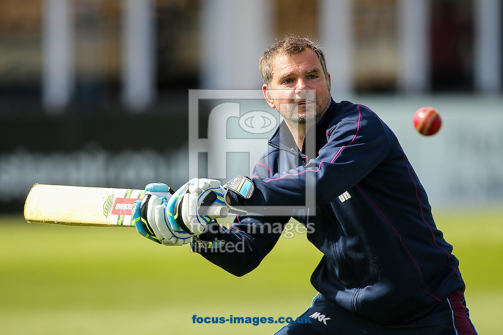 David Ripley, Northamptonshire CCC head coach, before the Specsavers County C'ship Div Two match at the County Ground, Northampton<br /> Picture by Andy Kearns/Focus Images Ltd 0781 864 4264<br /> 16/05/2016