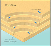 A vector illustration of the layers of marine plywood