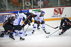 Tuomo Ruutu of Finland and Lee Stempniak of USA at play-off round quarterfinals ice-hockey game USA  vs Finland at IIHF WC 2008 in Halifax,  on May 14, 2008 in Metro Center, Halifax, Nova Scotia,Canada. Win of Finland 3 : 2. (Photo by Vid Ponikvar / Sportal Images)