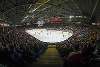 KELOWNA, BC - SEPTEMBER 29: A sold out Prospera Place as the Vancouver Canucks take on the Arizona Coyotes in their final preseason game on September 29, 2018 in Kelowna, Canada. (Photo by Marissa Baecker/NHLI via Getty Images)  *** Local Caption ***