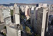 Belo Horizonte_MG, Brasil.<br /> <br /> Imagem panoramica do centro de Belo Horizonte, Minas Gerais. Detalhe para a Avenida Afonso Pena.<br /> <br /> Panoramic view of Belo Horizonte, Minas Gerais. In this photo Afonso Pena avenue.<br /> <br /> Foto: BRUNO MAGALHAES / NITRO
