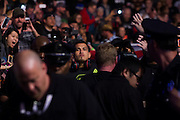 DALLAS, TX - MARCH 14:  UFC lightweight champion Anthony Pettis walks to the octagon before fighting Rafael Dos Anjos during UFC 185 at the American Airlines Center on March 14, 2015 in Dallas, Texas. (Photo by Cooper Neill/Zuffa LLC/Zuffa LLC via Getty Images) *** Local Caption *** Anthony Pettis