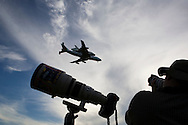 CAPE CANAVERAL, FL - JUNE 2:   Space Shuttle Atlantis, riding atop a modified 747 aircraft, prepares to touch down at the shuttle landing facility at Kennedy Space Center in Cape Canaveral, Florida, June 2, 2009. Atlantis is returning to KSC after landing in California at the completion of its mission to repair the Hubble Space Telescope. (Photo by Matt Stroshane/Getty Images)