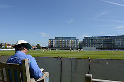 A fan at the County Cricket Ground - Photo mandatory by-line: Dougie Allward/JMP - Mobile: 07966 386802 - 21/05/2015 - SPORT - Cricket - Bristol - County Ground - Gloucestershire v Kent - LV=County Cricket