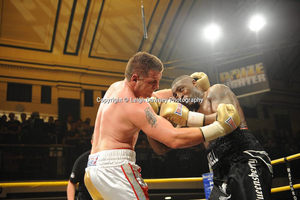 Michael Sprott defeats Shane McPhilibin at Prizefighter The Heavyweights 9th Ocrtober 2010 at York Hall, Bethnal Green, London. Prizefighter/Matchroom Sport. Barry & Eddie Hearn © Photo credit: Leigh Dawney