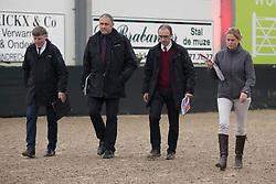 Jury, Stefaan Desmedt, Herman Van den Broeck, Inge Meurrens, Herman Bode<br /> BWP Keuring - 3de Phase<br /> Hulsterlo - Meerdonk 2017<br /> © Hippo Foto - Dirk Caremans<br /> 18/03/17