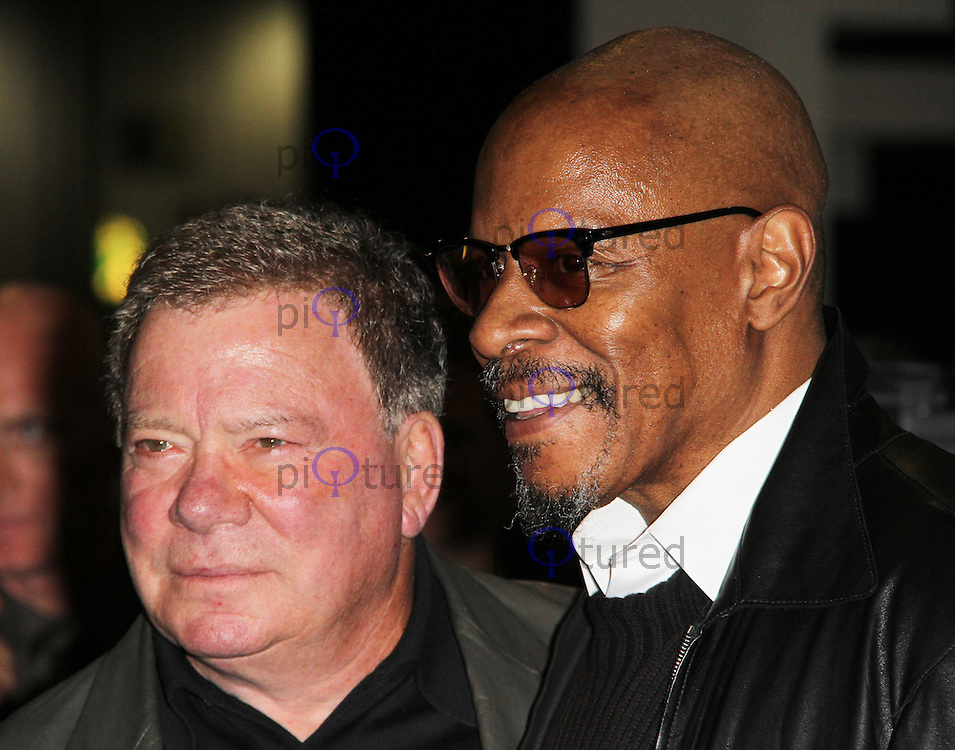 LONDON - OCTOBER 19: William Shatner; Avery Brooks attended 'Destination Star Trek London' at the ExCel Centre London, UK, October 19, 2012. (Photo by Richard Goldschmidt)