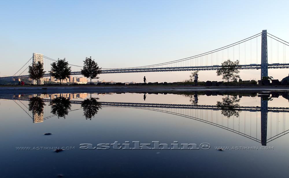 GW Bridge after sunset