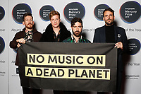 Foals attend the media room during 2019 Hyundai Mercury Prize, Eventim Apollo, London, UK, Saturday 06 July 2019<br /> Photo JM Enternational