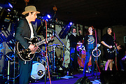 Jakob Dylan and Three Legs featuring Neko Case and Kelly Hogan perform at the Pure Volume House at the South by Southwest Conference, Austin Texas, March 16, 2010.  Three Legs include Jakob Dylan, Neko Case, Kelly Hogan, Jon Rauhouse, Tom Ray, Paul Rigby and Barry Mirochnick.