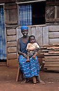 Mother and baby, southeast Cameroon.