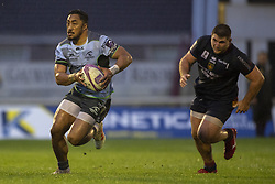 December 8, 2018 - Galway, Ireland - Bundee Aki of Connacht runs with the ball during the European Rugby Challenge Cup between Connacht Rugby and Parpignan at the Sportsground in Galway, Ireland on December 8, 2018  (Credit Image: © Andrew Surma/NurPhoto via ZUMA Press)