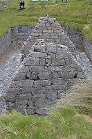 Teampall Chaomhan 10-14th century church ruins on Inis Oirr the Aran Islands Galway Ireland