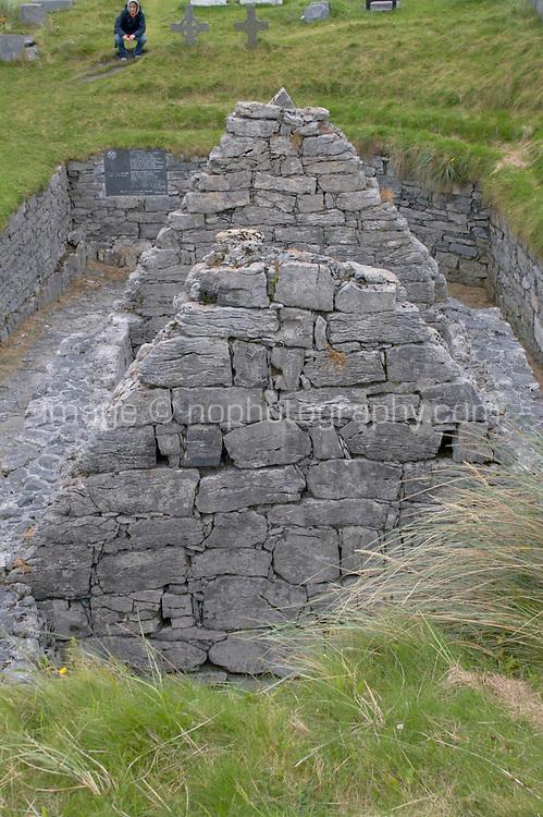 Teampall Chaomhan 10-14th century church ruins on Inis Oirr the Aran Islands Galway Ireland