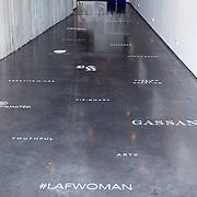 NLD/Amsterdam/20151216 - Life After Football dames editie, vloer met sponsornamen