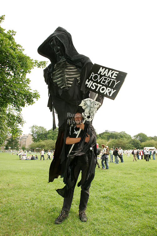 man dressed as death??