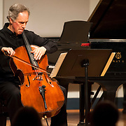 June 12, 2012 - New York, NY : Cellist Eric Bartlett performs Peter Susser's 'Five Ballads' (1998) during the Institute & Festival for Contemporary Performance 2012 at the Mannes Concert Hall in Manhattan on Tuesday night. CREDIT: Karsten Moran for The New York Times