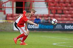 WREXHAM, WALES - Friday, September 2, 2016: Wales' Harry Wilson in action against Denmark's Andreas Maxsø during the UEFA Under-21 Championship Qualifying Group 5 match at the Racecourse Ground. (Pic by Paul Greenwood/Propaganda)