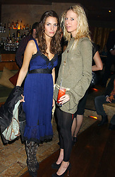Left to right, MARINA HANBURY and The HON.SOPHIA HESKETH at a party hosted by Daniella Helayel of fashion label ISSA held at Taman Gang, 141 Park Lane, London on 15th February 2006.<br />
