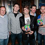 NLD/Amsterdam/20110318 - Boekpresentatie Mark Tuitert, Jac Orie, broer Rob Tuitert, Mark, Gianni Romme en Erben Wennemars