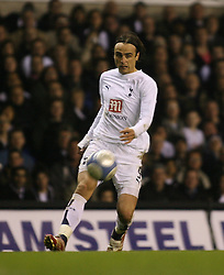 London, England - Wednesday, March 14, 2007: Tottenham Hotspur's Dimitar Berbatov in action against SC Braga during the UEFA Cup match at White Hart Lane. (Pic by Chris Ratcliffe/Propaganda)
