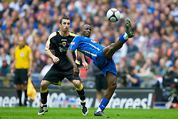 LONDON, ENGLAND - Saturday, May 17, 2008: Cardiff City's Tony Capaldi and Portsmouth's John Utaka during the FA Cup Final at Wembley Stadium. (Photo by David Rawcliffe/Propaganda)