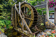 Waterwheel Near the Entrance of Buchart Gardens in Canada