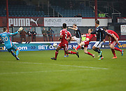 David Clarkson fires Dundee into the 5th round -  Dundee v Aberdeen, William Hill Scottish FA Cup 4th round at Dens Park<br /> <br />  - &copy; David Young - www.davidyoungphoto.co.uk - email: davidyoungphoto@gmail.com