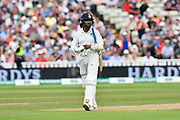 Wicket - Murali Vijay of India looks unhappy with his dismissal to Sam Curren of England during second day of the Specsavers International Test Match 2018 match between England and India at Edgbaston, Birmingham, United Kingdom on 2 August 2018. Picture by Graham Hunt.