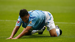 Jose Holebas of TSV 1860 Munchen croutches on all fours during the Bundesliga match between TSV 1860 Munchen and SpVgg Greuther Forth on the 12th September 2009.