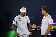 November 21-23, 2014 : Abu Dhabi Grand Prix, Tensions are high between Lewis Hamilton (GBR) and Nico Rosberg (GER)