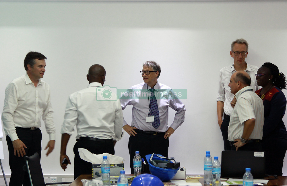 August 10, 2017 - Dar Es Salaam, Dar es Salaam, Tanzania - Bill Gates, American business magnate and philanthropist, wraps up a visit to Yara Tanzania fertilizer terminal.''If you care about the poorest, you care about agriculture,'' believes Gates. According to the World Bank, agriculture is the primary economic activity for 80-percent of Tanzania's population. Bill Gates visited the country's largest private sector fertilizer manufacturer to find out how they provide small-holder farmers with access to better inputs to improve their productivity. (Credit Image: © Ric Francis via ZUMA Wire)