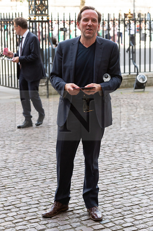 © Licensed to London News Pictures. 15/06/2018. London, UK.  Ben Miller attends the memorial service for Professor Stephen Hawkin at Westminister Abbey. Photo credit: Ray Tang/LNP