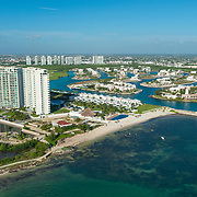 Aerial view of Puerto Cancun development.