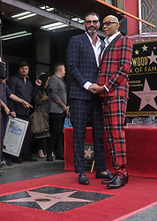 March 16, 2018 - Los Angeles, California, U.S - RuPaul and husband, Georges LeBar pose with his star on the Hollywood Walk of Fame following a ceremony on Friday, March 16, 2018, in Los Angeles. (Credit Image: © Ringo Chiu via ZUMA Wire)