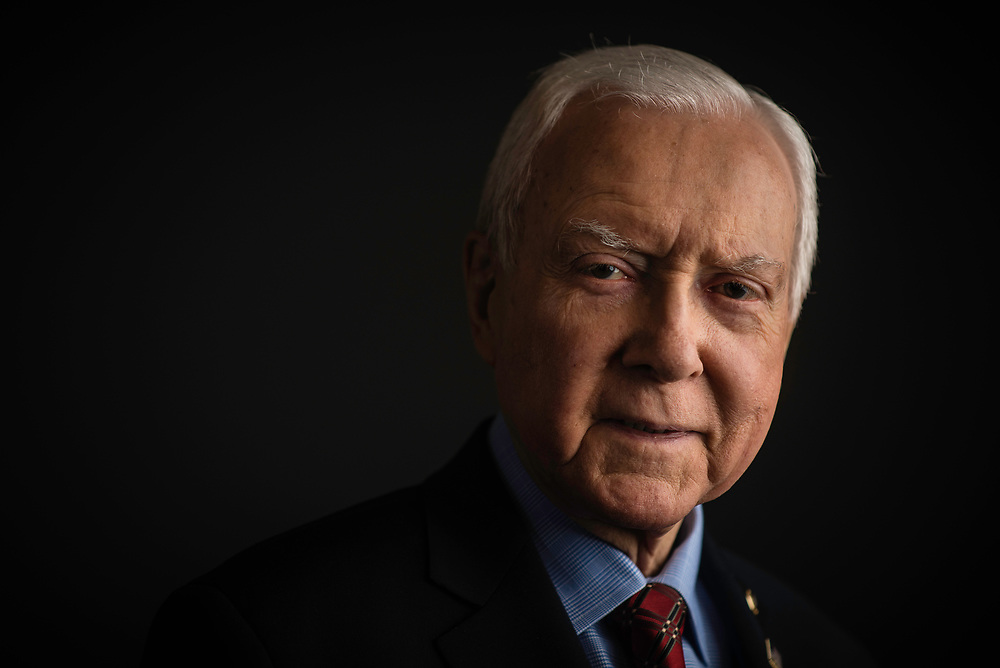 WASHINGTON, DC -- 12/21/17 -- Senator Orrin Hatch is the senior senator from Utah, Chairman of the Senate Finance Committee and President pro tempore of the United States Senate..…by André Chung #_AC27002