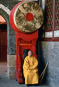 Buddhist monk at Huating Temple, China